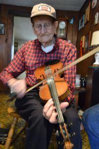 Lester fiddling 2